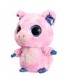 Roze varken knuffel 20 cm met grote ogen